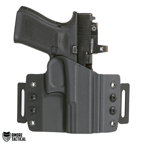 Outside-facing Side of the Glock 19/19x/23/32/44/45 OWB Right Handed Holster.