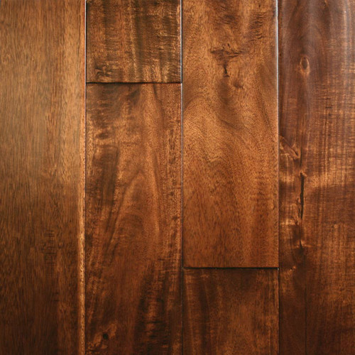 """ARK Floors Artistic Collection 1/2"""" x 5"""" Acacia Morning Coffee Solid Hardwood"""