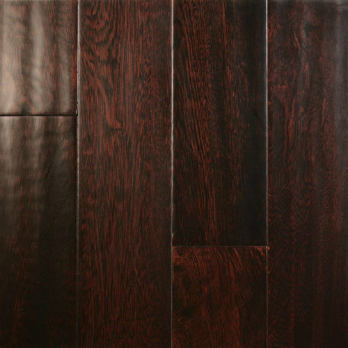 "ARK Floors Artistic Collection 1/2"" x 4-3/4"" Angelim Black Tulip Engineered Hardwood"