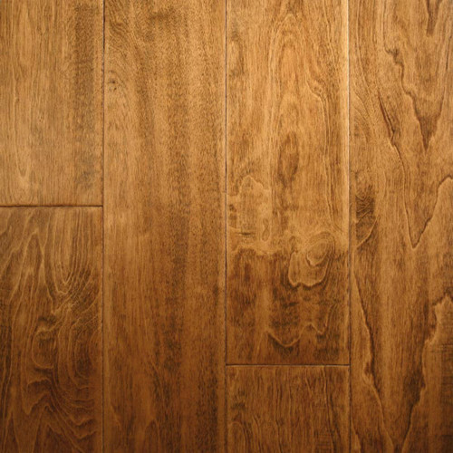 "ARK Floors Artistic Collection 1/2"" x 4-3/4"" Birch Brown Sugar Scrape Engineered Hardwood"