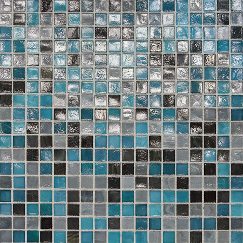 "Daltile City Lights 1/2"" x 1/2"" Rio Mesh Mounted Glass Mosaics"