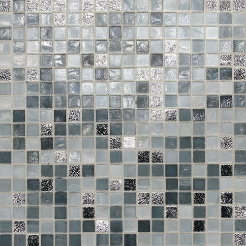 "Daltile City Lights 1/2"" x 1/2"" London Mesh Mounted Glass Mosaics"