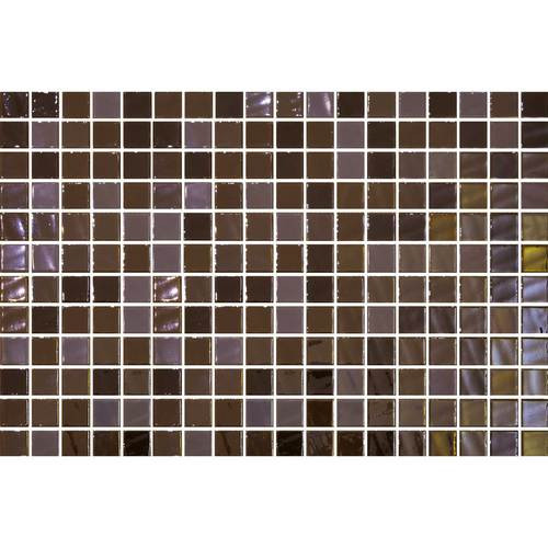 "Daltile Uptown Glass 1"" x 1"" Pearl Brown Glass Wall Mosaic"