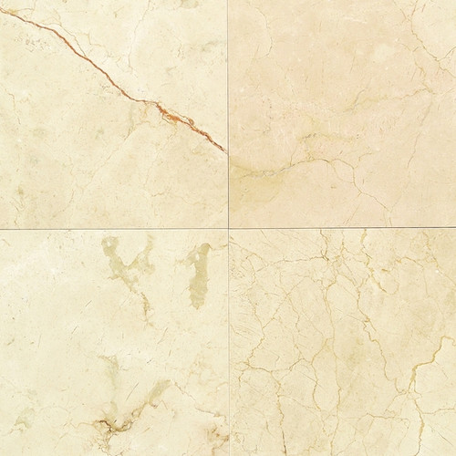 "American Olean Marble & Onyx Collection 12"" x 12"" Crema Marfil Classico Field Tile"