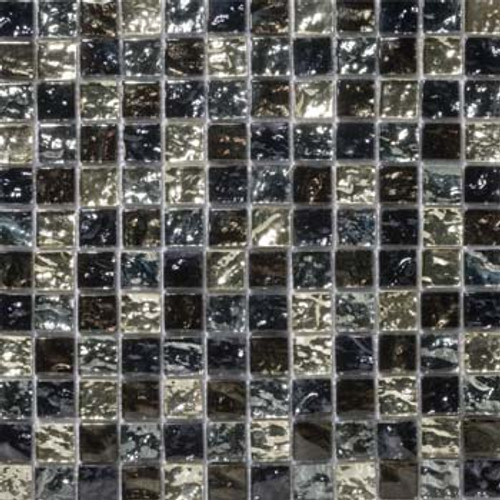 "Emser Tile Glass Vista 1"" x 1"" Freddo Gloss Blend Mosaic"