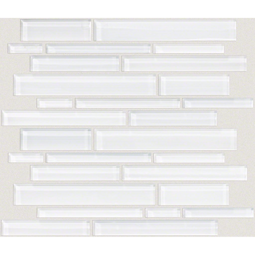 Shaw Tile Atomic Glass Ice Random Linear Mosaic