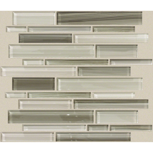 Shaw Tile Atomic Glass Clay Random Linear Mosaic