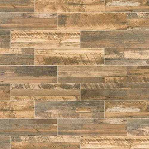 "Marazzi Preservation Distressed Oak 9"" x 36"" Field Tile"