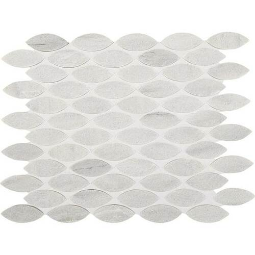 "American Olean Ascend Stone Candid Heather Honed 1"" x 2 3/8"" Leaf Mosaics"