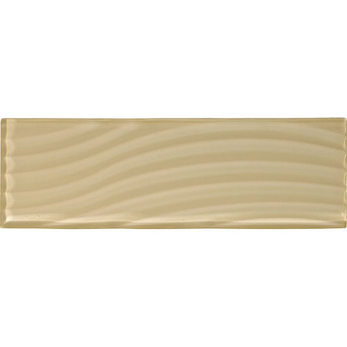 """American Olean Color Appeal Abstracts Cloud Cream 4"""" x 12"""" Glass Tile"""