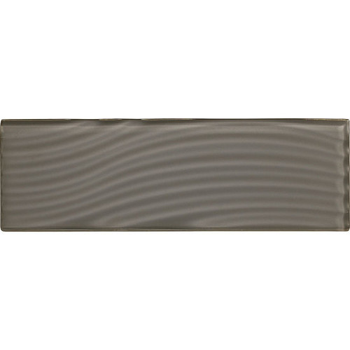 """American Olean Color Appeal Abstracts Charcoal Gray 4"""" x 12"""" Glass Tile"""