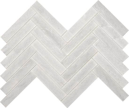 "American Olean Ascend Stone Candid Heather Honed 1"" x 6"" Chevron Mosaics"