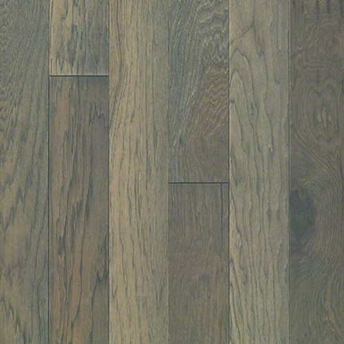 "Shaw Raven Rock Brushed Greystone 1/2"" x 5"" Hickory Engineered Hardwood"