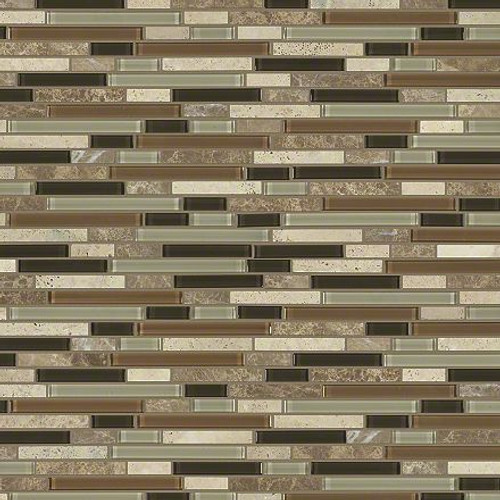 """Shaw Marvelous Mix Bamboo 12"""" x 12"""" Linear Mosaic"""