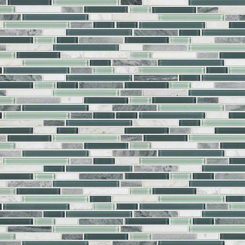 "Shaw Marvelous Mix Waterfall 12"" x 12"" Linear Mosaic"