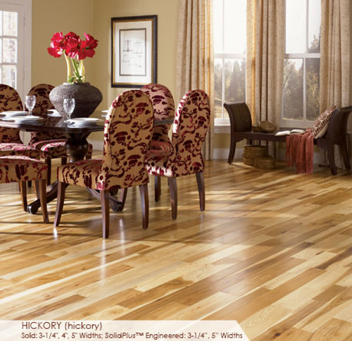 """Somerset Character Collection Engineered Plank Hickory Natural 5"""""""