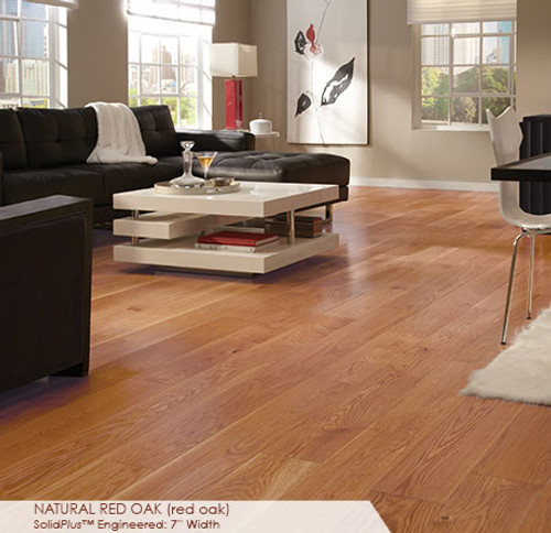 """Somerset Wide Plank Collection Red Oak Natural 7"""""""