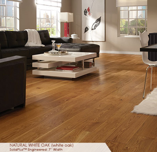 """Somerset Wide Plank Collection White Oak Natural 7"""""""