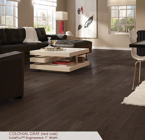 Somerset Wide Plank Collection Red Oak Colonial Gray 7""