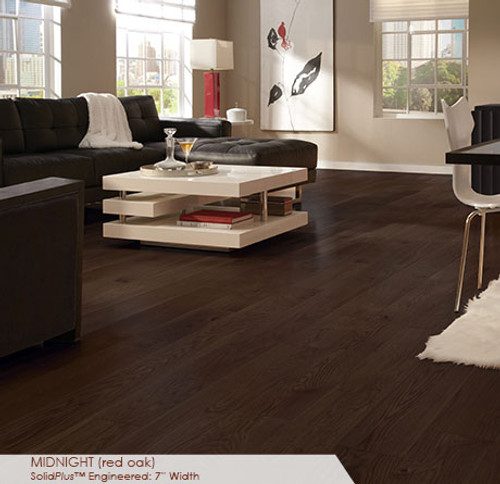 Somerset Wide Plank Collection Red Oak Midnight 7""