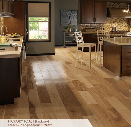 """Somerset Wide Plank Collection Hickory Toast 6"""""""