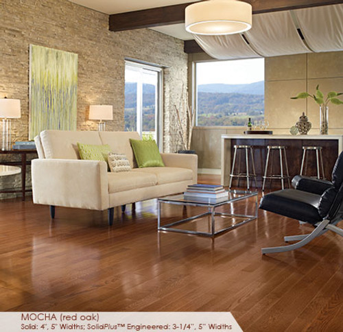 """Somerset Color Collection Engineered Plank Red Oak Mocha 5"""""""