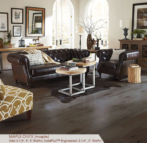 """Somerset Character Collection Engineered Plank Maple Onyx 3 1/4"""""""