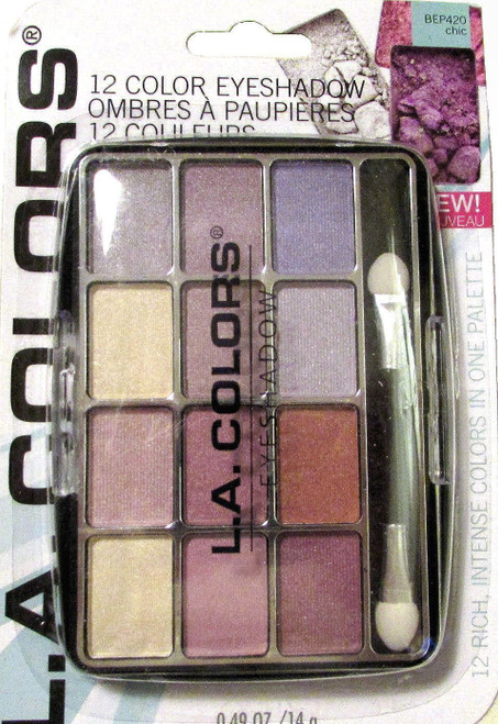 L.A. Colors Expressions, 12 Color Eyeshadow