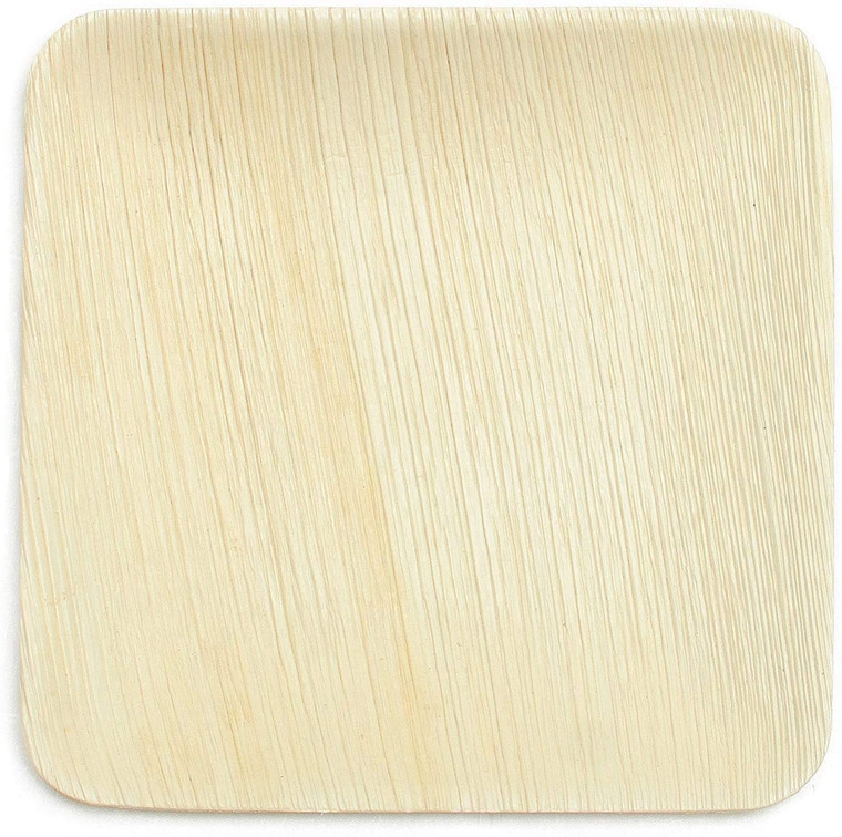 """Allycafe 10"""" Square Palm Leaf Plate / 25-ct case"""