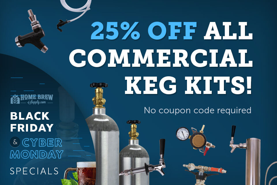 25% Off All Commercial Keg Kits!
