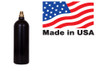 20oz CO2 Bottle, with Pin Valve, Black.  Worthington Pro Grade, Made in the USA with USA made valve.