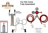 2 Faucet Tower Homebrew Kegerator Kit