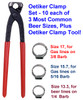 Oetiker Clamp Tool with three most used Oetiker clamps for beer applications