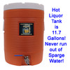 Never run out of Sparge water, our system has a full capacity 11.7 gallon cooler!