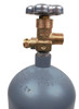 5 LB Co2 Cylinder with New USA Valve, Steel