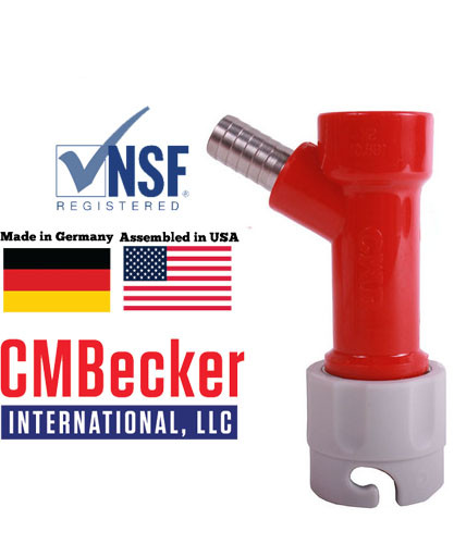 "CMB Pin Lock Disconnect Gas 3/8"" Barbed (Fits 5/16 hose)"