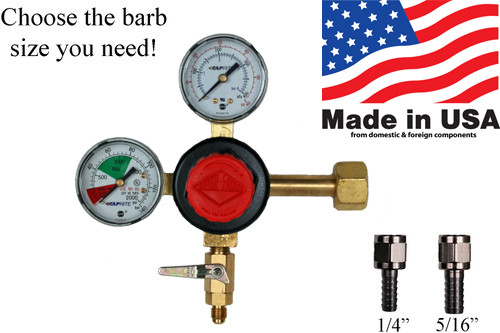 Taprite High Flow Dual Guage Primary CO2 Beer Regulator - MFL Outlet