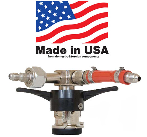 """Twist on Style,""""D"""" American """"Sanke"""" Coupler, Low Profile with MFL tailpieces"""