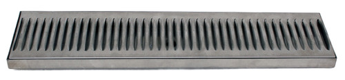 18x5 SS Drip Tray, Surface Mount, with drain!