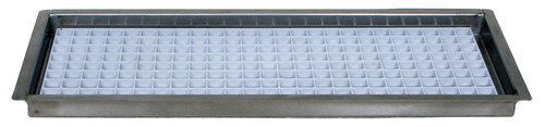 "Flush Mount Drip Trays, Removeable Grid, with Drain,  8 1/8"" SS"