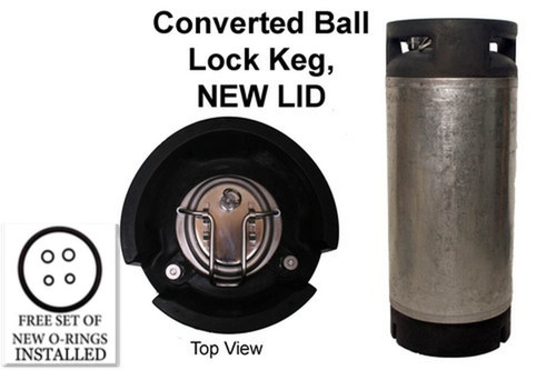 Converted Ball Lock Keg,  Cornelius Keg, 5 Gallon w/ NEW Posts + NEW Lid for Homebrew/Soda