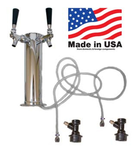 2 Faucet Homebrew Tower, Assembled