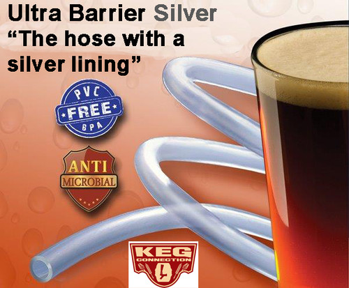 """Ultra Barrier Silver Beer Hose 3/16 ID x 7/16 OD, 1/8"""" Wall"""