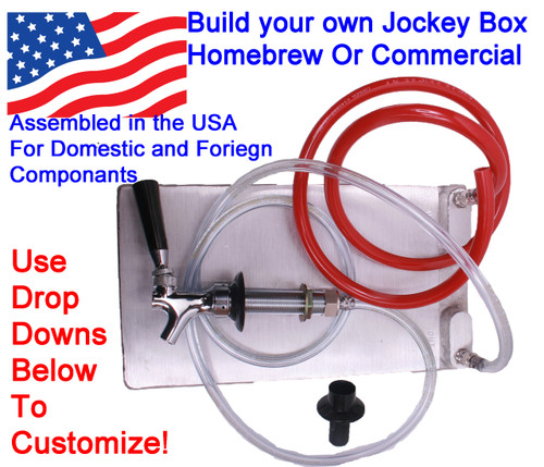 """1 Faucet Build Your Own Jockey Box! - 8"""" x 14"""" Cold Plate, one Faucet"""