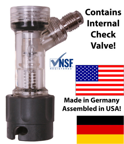 "CMB Check Valved Gas Disconnect, Pin Lock 1/4"" MFL"