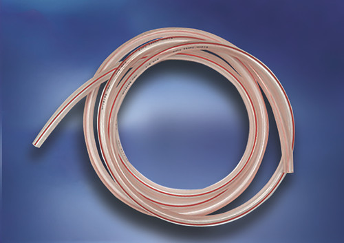 """5/16"""" Hose, Clear with Red Stripe, PVC Free / ft."""