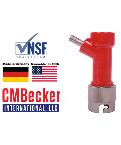 CMB Pin Lock Disconnect Gas 1/4 Barb W/ Metal Collar
