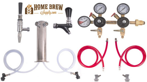 2 Faucet Tower Cold Brew Coffee & Nitrogen Infused Kit