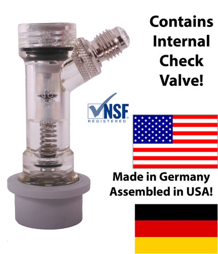 "CMB Ball Lock Check Valved Gas Disconnect 1/4"" MFL"