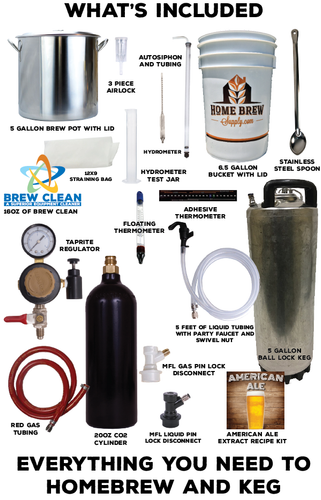 Homebrew Starter kit w/ Ball Lock Draft system